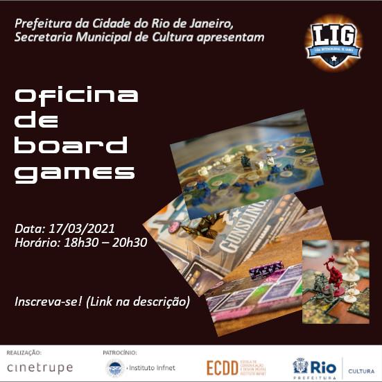 Já se inscreveu na Oficina de Boardgames da LIG?